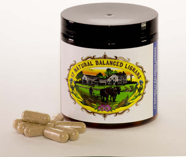 FLAX HULL LIGNAN CAPSULES (1 Month Supply - 90 Caps) $39.99